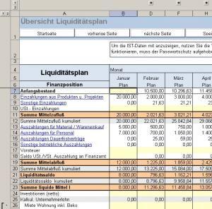 Finanz Und Liquiditatsplanung Einer Start 12